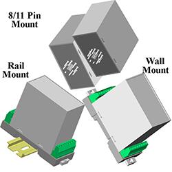 Tri-Mount Plastic Case (8/11 Pin, Rail & Wall Mount)
