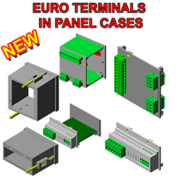 Euro Terminals in Din Panel Cases