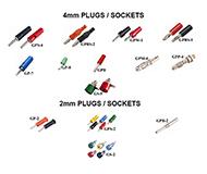 BANANA PLUGS & SOCKET 4mm & 2mm
